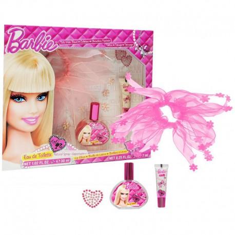 Coffret Cadeau - Eau de toilette 30ml et accessoires - Barbie