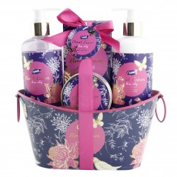 Panier soins beauté & bain - Lys & freesia - Collection Floral Fusion