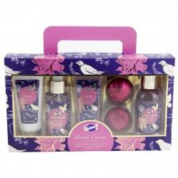 Coffret cadeau beauté & bain - Lys & Freesia - Edition Floral Fusion