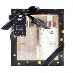 Coffret cadeau de bain au design sobre et luxieux à la Mûre