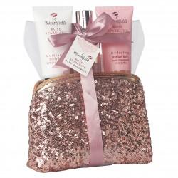 Trousse de bain rose pailletée -  Edition Bloomfield - Rose