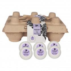Coffret de bain et bien-être ecologique format boîte à œufs  à la lavande - boules de bain