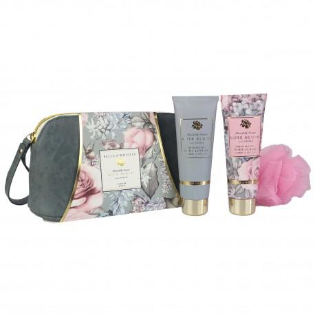 Trousse de bain à la grenade avec fleur de massage - Idée cadeau femme