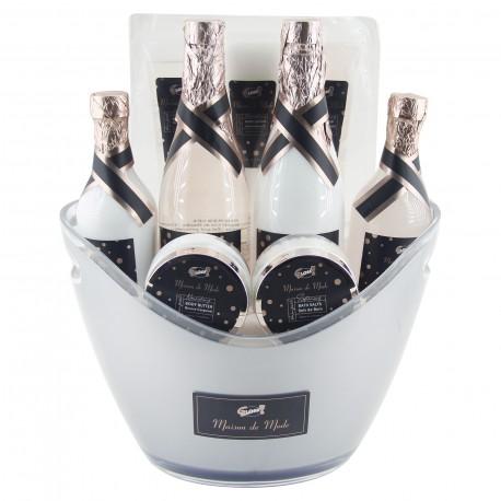 Coffret de bain & soins Premium - Seau à Champagne -   Lys et Freesia