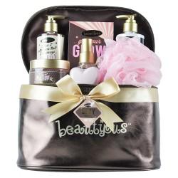 Coffret beauté & bain à la rose avec sa vanity et une brume corporelle