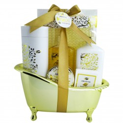 Coffret beauté - Baignoire de bain dorée - Huile d'argan
