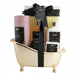 Coffret beauté - Baignoire de bain dorée à la Mûre