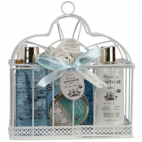 Coffret de bain avec des pétales de savon- Aloe Vera & Menthe Poivrée