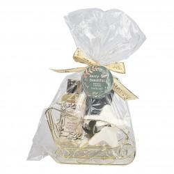 Set de bain - Traîneau en métal - Vanille & tilleul - Idée Cadeau Noël