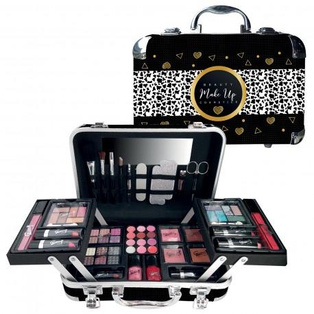 Mallette de maquillage XXXL incluant 4 vernis - Black & Gold