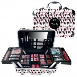 Mallette de maquillage XXXL incluant 4 vernis - Black&Pink