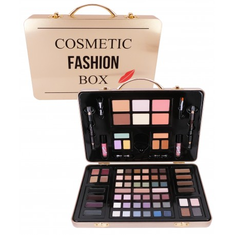 Mallette de maquillage dorée - Collection Cosmetic Fashion Box