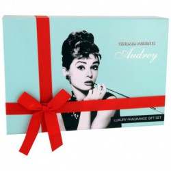 Coffret cadeau beauté - Eau de parfum 50ml, crème de douche 150ml et lotion 150ml - Audrey Hepburn