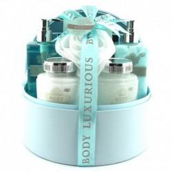 Coffret de bain boîte à bijoux parfum verveine - 6pcs