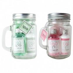 Coffret de bain format mug en verre parfum et couleur aléatoire - 3pcs