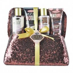 Coffret de bain au parfum de musc doux, vanille et nectarine blanche - 4pcs